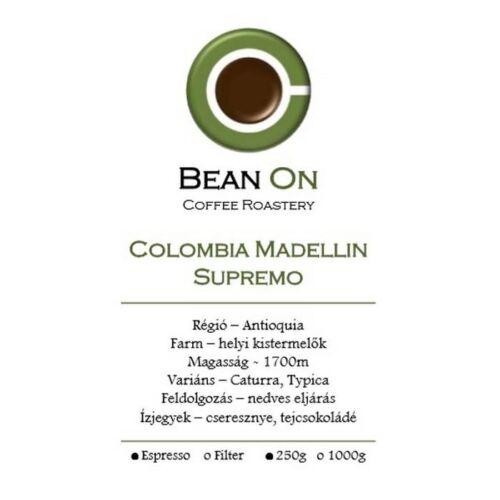 Bean On Colombia Madellin Supremo szemes kávé 250Gr