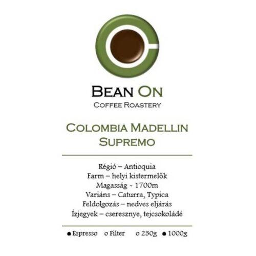 Bean On Colombia Madellin Supremo 1Kg,szemes kávé